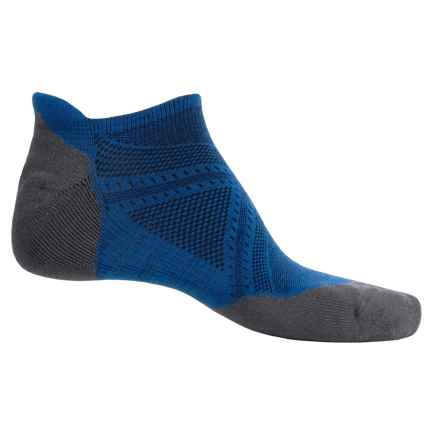 SmartWool PhD V2 Run Elite Socks - Merino Wool, Below the Ankle (For Men and Women) in Bright Blue - Closeouts