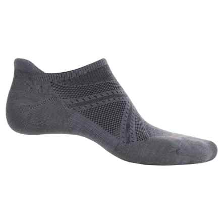SmartWool PhD V2 Run Elite Socks - Merino Wool, Below the Ankle (For Men and Women) in Graphite/Orange - Closeouts