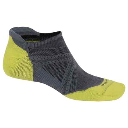 SmartWool PhD V2 Run Elite Socks - Merino Wool, Below-the-Ankle (For Men and Women) in Graphite - 2nds