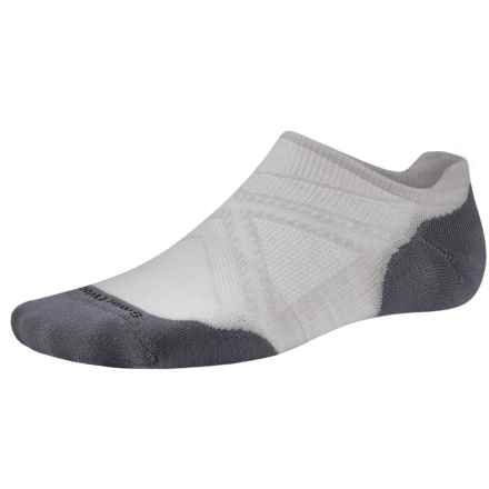 SmartWool PhD V2 Run Elite Socks - Merino Wool, Below-the-Ankle (For Men and Women) in Silver - 2nds