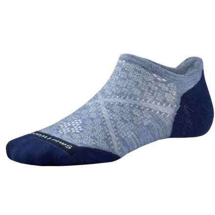 SmartWool PhD V2 Run Elite Socks - Merino Wool, Below the Ankle (For Women) in Blue Steel - 2nds