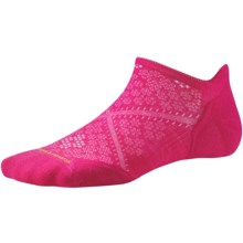 SmartWool PhD V2 Run Elite Socks - Merino Wool, Below the Ankle (For Women) in Bright Pink - 2nds