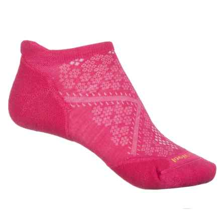 SmartWool PhD V2 Run Elite Socks - Merino Wool, Below the Ankle (For Women) in Bright Pink - Closeouts
