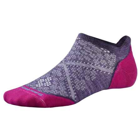 SmartWool PhD V2 Run Elite Socks - Merino Wool, Below the Ankle (For Women) in Desert Purple - 2nds