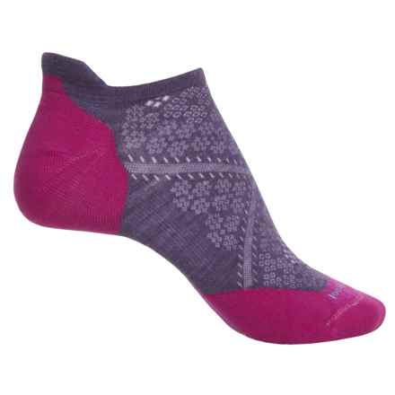SmartWool PhD V2 Run Elite Socks - Merino Wool, Below the Ankle (For Women) in Desert Purple - Closeouts