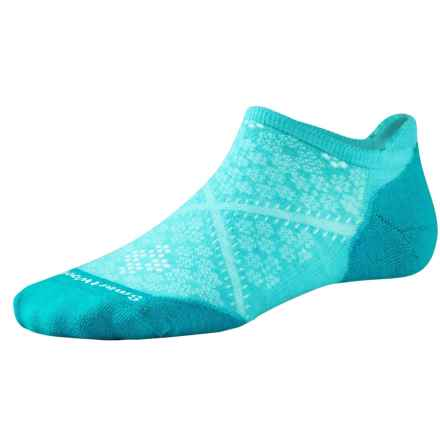 SmartWool PhD V2 Run Elite Socks - Merino Wool, Below the Ankle (For Women) in Light Capri - 2nds