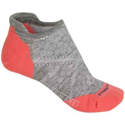 SmartWool PhD V2 Run Elite Socks - Merino Wool, Below the Ankle (For Women) in Light Gray - 2nds
