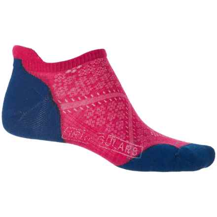 SmartWool PhD V2 Run Elite Socks - Merino Wool, Below the Ankle (For Women) in Potion Pink - 2nds
