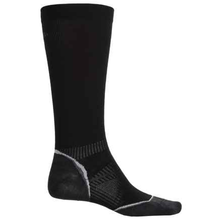 SmartWool PhD V2 Run Graduated Compression Ultralight Socks - Merino Wool, Over the Calf (For Men and Women) in Black - Closeouts