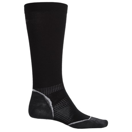 SmartWool PhD V2 Run Graduated Compression Ultralight Socks - Merino Wool, Over the Calf (For Men and Women)