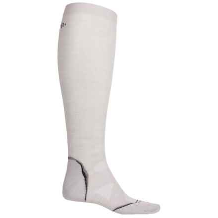 SmartWool PhD V2 Run Graduated Compression Ultralight Socks - Merino Wool, Over the Calf (For Men and Women) in Silver Grey Heather - Closeouts