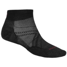 SmartWool PhD V2 Run Light Socks - Merino Wool, Ankle (For Men and Women) in Black - 2nds