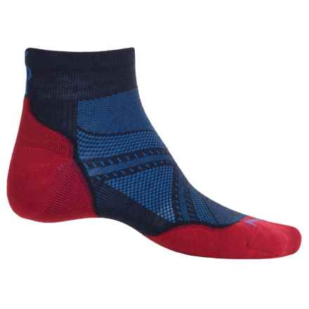 SmartWool PhD V2 Run Light Socks - Merino Wool, Ankle (For Men and Women) in Deep Navy - Closeouts