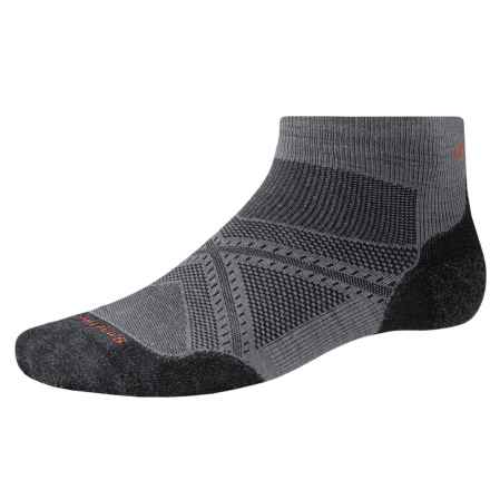 SmartWool PhD V2 Run Light Socks - Merino Wool, Ankle (For Men and Women) in Graphite - 2nds