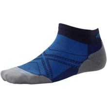 SmartWool PhD V2 Run Light Socks - Merino Wool, Ankle (For Men and Women) in Navy - 2nds
