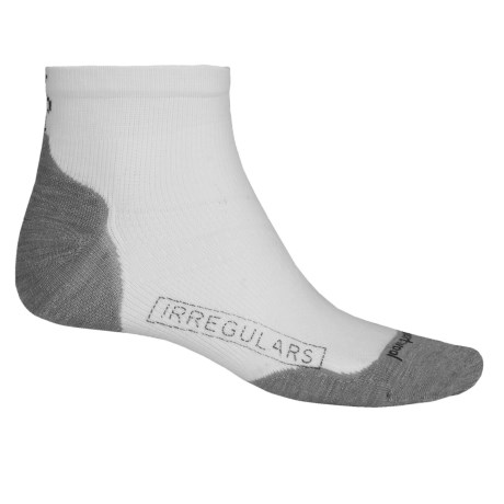 SmartWool PhD V2 Run Light Socks - Merino Wool, Ankle (For Men and Women) in White/Lite Gray