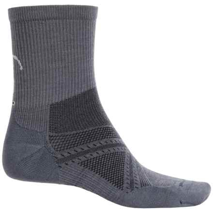 SmartWool PhD V2 Run Socks - Merino Wool, Quarter Crew (For Men and Women) in Graphite - 2nds