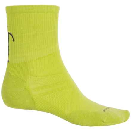 SmartWool PhD V2 Run Socks - Merino Wool, Quarter Crew (For Men and Women) in Smartwool Green - 2nds