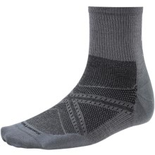 SmartWool PhD V2 Run Ultralight Socks - Merino Wool, 3/4 Crew (For Men and Women) in Graphite - Closeouts