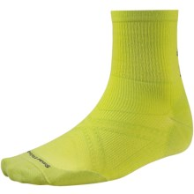 SmartWool PhD V2 Run Ultralight Socks - Merino Wool, 3/4 Crew (For Men and Women) in Smartwool Green - Closeouts