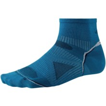 SmartWool PhD V2 Run Ultralight Socks - Merino Wool, Ankle (For Men and Women) in Arctic Blue - 2nds