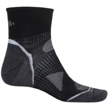 SmartWool PhD V2 Run Ultralight Socks - Merino Wool, Ankle (For Men and Women) in Black/White - 2nds