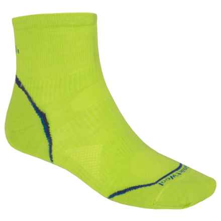 SmartWool PhD V2 Run Ultralight Socks - Merino Wool, Ankle (For Men and Women) in Smartwool Green - 2nds
