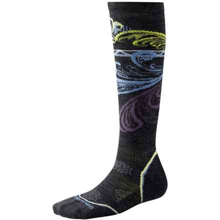 SmartWool PhD V2 Snowboard Light Socks - Merino Wool, Over the Calf (For Women) in Charcoal - Closeouts