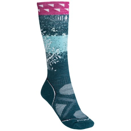 SmartWool PhD V2 Snowboard Medium Socks - Merino Wool, Over the Calf (For Women) in Deep Sea
