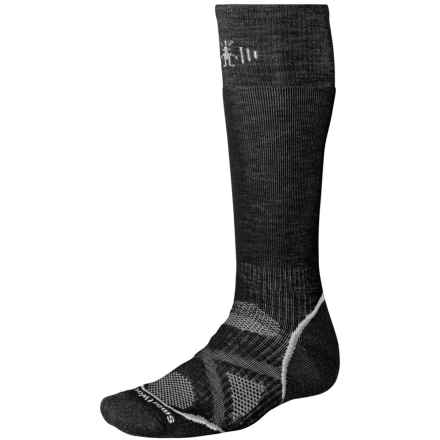SmartWool PhD V2 Snowboard Socks - Merino Wool, Over the Calf (For Men and Women) in Black - 2nds