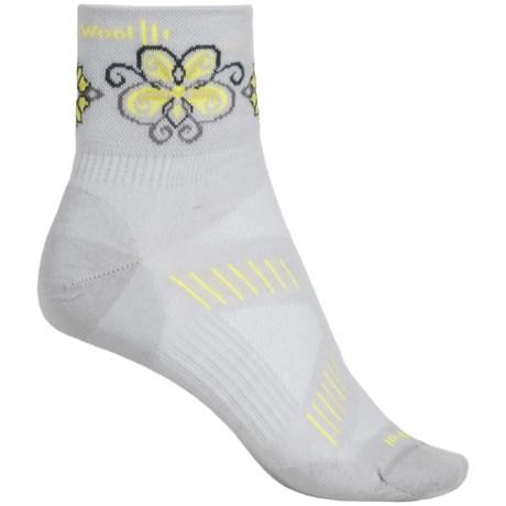 SmartWool PhD V2 Ultralght Mini Cycling Socks - Merino Wool, Quarter Crew (For Women)