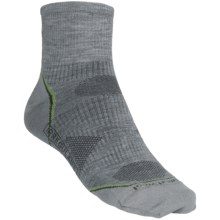 SmartWool PhD V2 Ultralight Outdoor Mini Socks - Merino Wool, Quarter Crew (For Men and Women) in Light Grey - 2nds