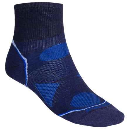 SmartWool PhD V2 Ultralight Outdoor Mini Socks - Merino Wool, Quarter Crew (For Men and Women) in Navy - 2nds
