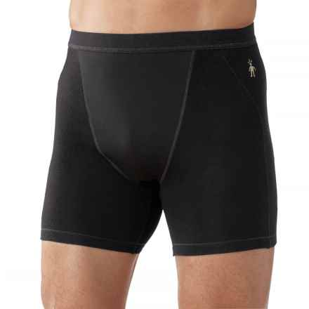 SmartWool PhD Wind Boxer Briefs - Merino Wool (For Men) in Black - Closeouts
