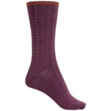 SmartWool Pick-Stitch Socks - Merino Wool, Crew (For Men) in Aubergine Heather - Closeouts