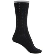 SmartWool Pick-Stitch Socks - Merino Wool, Crew (For Men) in Black - Closeouts