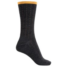 SmartWool Pick-Stitch Socks - Merino Wool, Crew (For Men) in Charcoal Heather - Closeouts