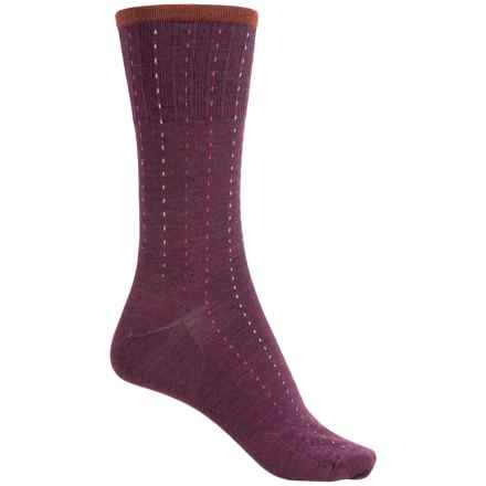 SmartWool Pick Stitch Socks - Merino Wool, Crew (For Women) in Aubergine Heather - Closeouts
