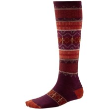 SmartWool Pine Glass Knee-High Socks - Merino Wool, Over the Calf (For Women) in Aubergine Heather - Closeouts