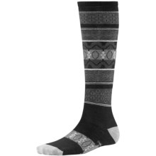 SmartWool Pine Glass Knee-High Socks - Merino Wool, Over the Calf (For Women) in Black - Closeouts