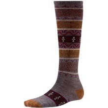 SmartWool Pine Glass Knee-High Socks - Merino Wool, Over the Calf (For Women) in Taupe Heather - Closeouts