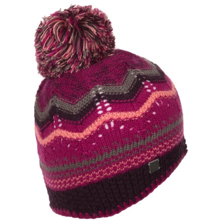 ea76bc23e1c SmartWool Pine Lake Chevron Hat - Merino Wool (For Women) in Berry -  Closeouts