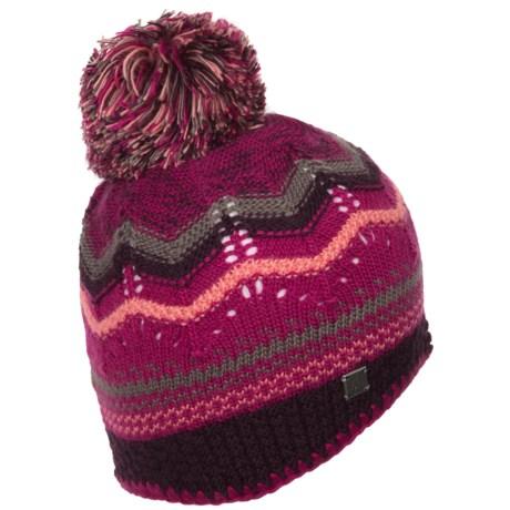 SmartWool Pine Lake Chevron Hat - Merino Wool (For Women) in Berry