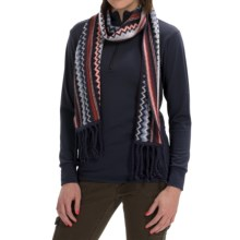 SmartWool Pine Lake Chevron Scarf - Merino Wool (For Men and Women) in Ink Heather - Closeouts