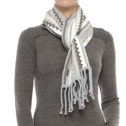 SmartWool Pine Lake Chevron Scarf - Merino Wool (For Men and Women) in Oatmeal Heather - Closeouts