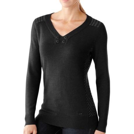 SmartWool Piney Lake Henley Sweater - Merino Wool (For Women) in Black