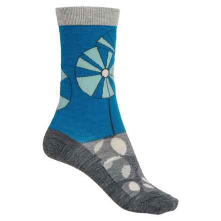 SmartWool Pinwheel Garden Socks - Merino Wool, Crew (For Men and Women) in Charcoal Heather - 2nds