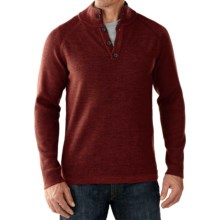 SmartWool Pioneer Ridge Half-Button Sweater - Merino Wool (For Men) in Cinnamon Heather - Closeouts