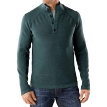 SmartWool Pioneer Ridge Half-Button Sweater - Merino Wool (For Men) in Sea Pine Heather - Closeouts