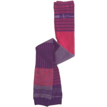 SmartWool Pipp Footless Tights - Merino Wool (For Girls) in Grape - 2nds